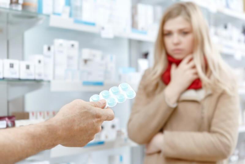 Таблетки в аптеке