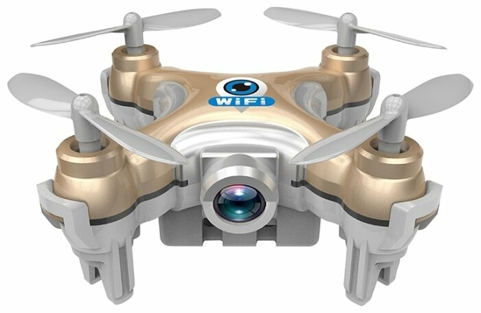 CXHOBBY CX-10W - полет: до 4мин. дальность 30м по Wi-Fi/Bluetooth