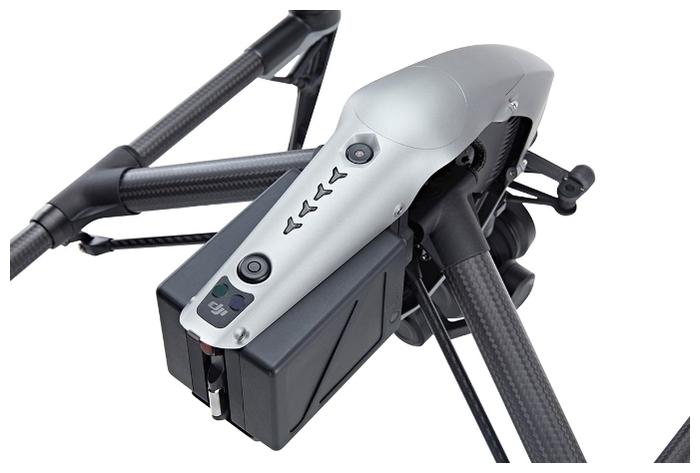 DJI Inspire 2 + Zenmuse X5S - функции: ActiveTrack, TapFly, автоматический взлет и посадка, вид от первого лица (FPV), возвращение в точку взлета, следование за оператором, оповещение о запретных зонах