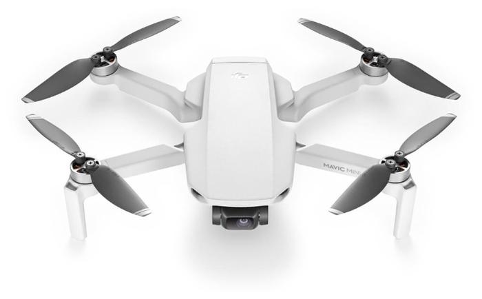 DJI Mavic Mini - полет: до 30мин., дальность 4000м по радиоканалу, высота 3000м, скорость 13м/с