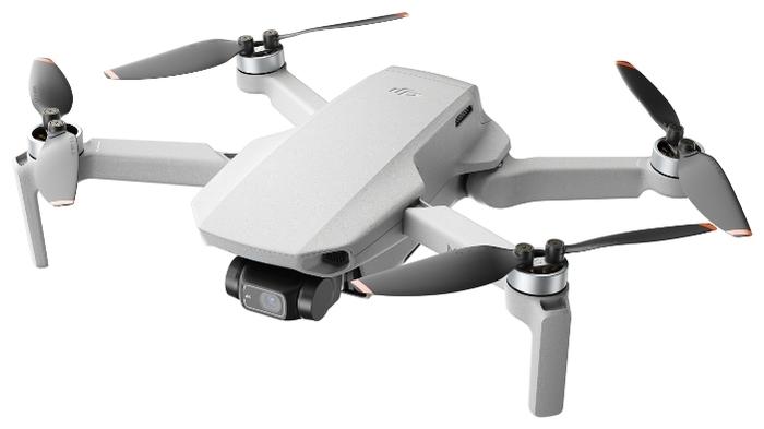 DJI Mini 2 Fly More Combo - полет: до 31мин., дальность 6000м по радиоканалу, высота 4000м, скорость 16м/с