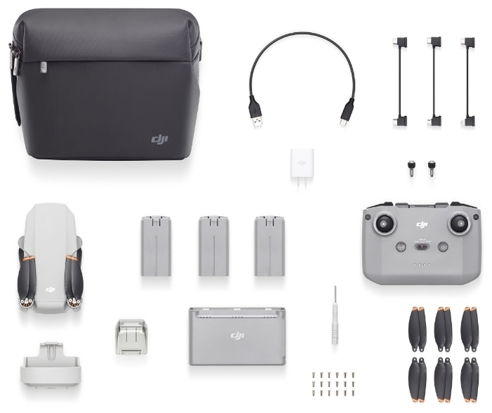 DJI Mini 2 Fly More Combo - размеры (ДхШхВ): 245x289x56мм, складной
