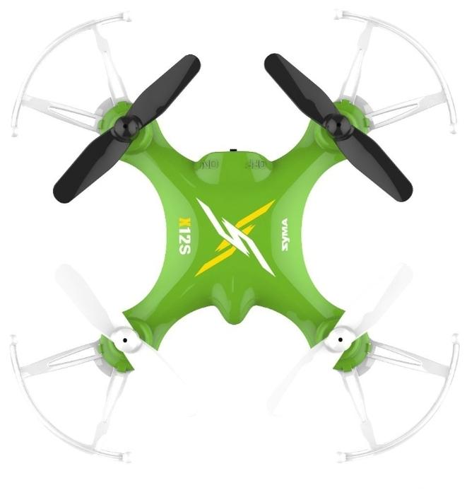 Syma X12S Nano - полет: до 6мин., дальность 20м по радиоканалу