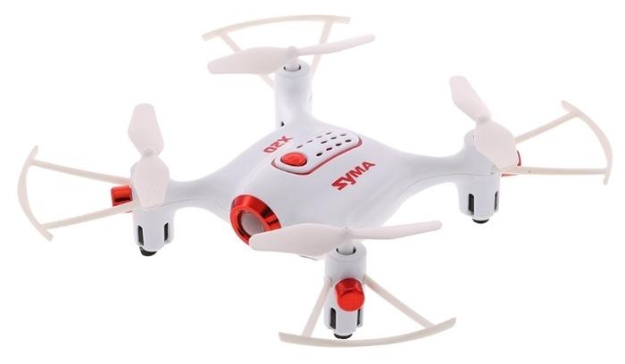 Syma X20 - полет: до 5мин., дальность 70м по радиоканалу
