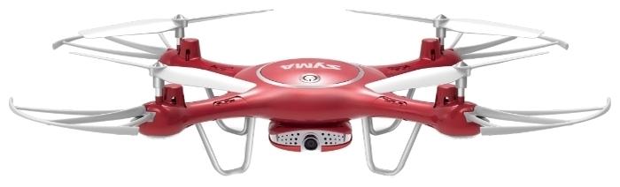 Syma X5UW-D - функции: автоматические флипы, Draw, автоматический взлет и посадка, headless mode, вид от первого лица (FPV)