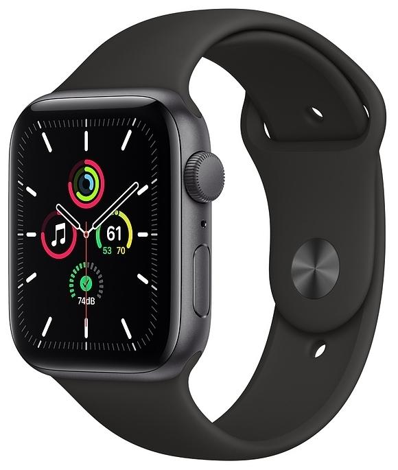 Apple Watch SE GPS 44мм Aluminum Case with Sport Band - совместимость: iOS