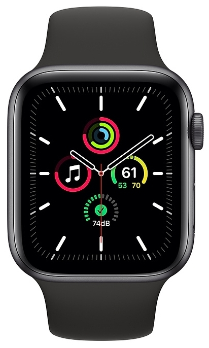 Apple Watch SE GPS 44мм Aluminum Case with Sport Band - водонепроницаемость: WR50 (5атм)