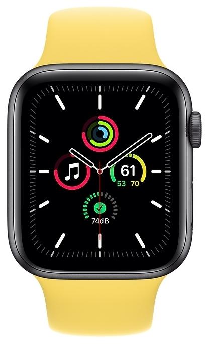 Apple Watch SE GPS 44мм Aluminum Case with Sport Band - мониторинг: калорий, физической активности, сна