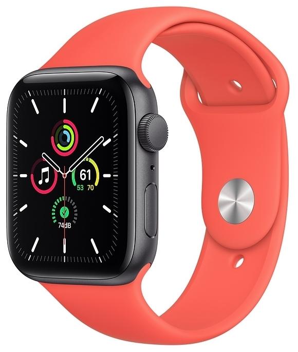 Apple Watch SE GPS 44мм Aluminum Case with Sport Band - вес: 36.2г