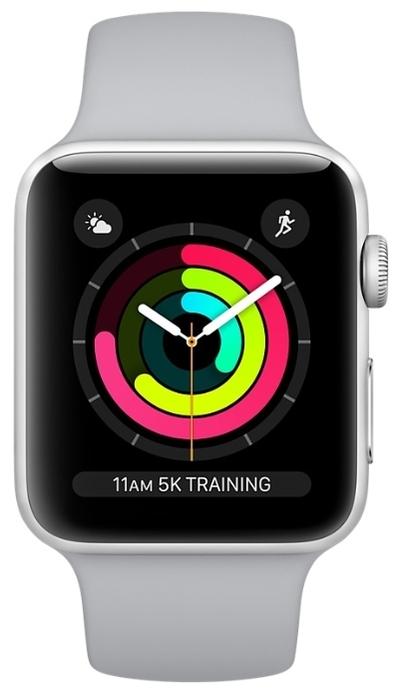 Apple Watch Series 3 38мм Aluminum Case with Sport Band - совместимость: iOS