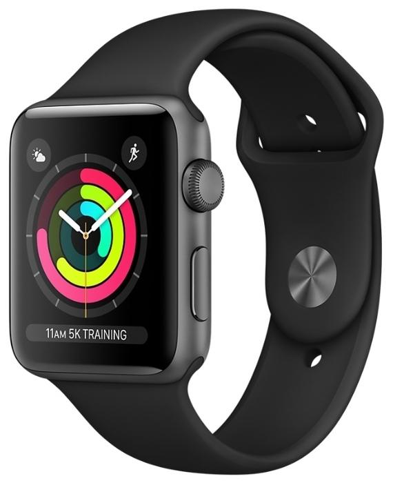 Apple Watch Series 3 38мм Aluminum Case with Sport Band - мониторинг: калорий, физической активности, сна