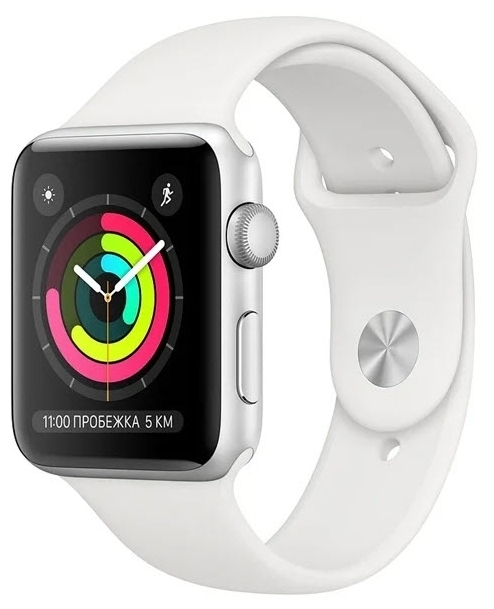 Apple Watch Series 3 38мм Aluminum Case with Sport Band - вес: 26.7г