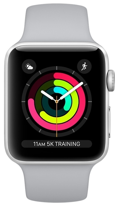 Apple Watch Series 3 42мм Aluminum Case with Sport Band - совместимость: iOS