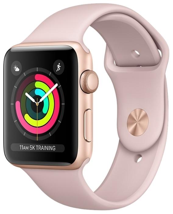 Apple Watch Series 3 42мм Aluminum Case with Sport Band - водонепроницаемость: WR50 (5атм)