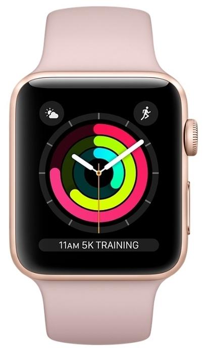 Apple Watch Series 3 42мм Aluminum Case with Sport Band - интерфейсы: Wi-Fi, NFC, Bluetooth 4.2