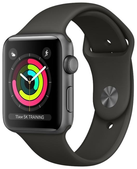 Apple Watch Series 3 42мм Aluminum Case with Sport Band - тип стекла: сапфировое