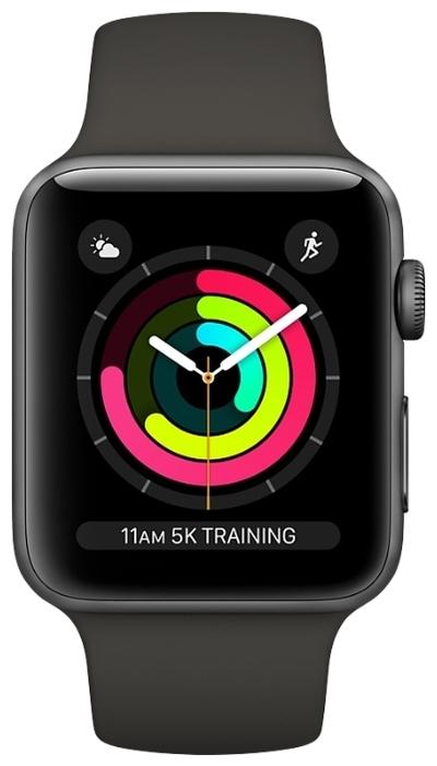 Apple Watch Series 3 42мм Aluminum Case with Sport Band - материал корпуса: алюминий