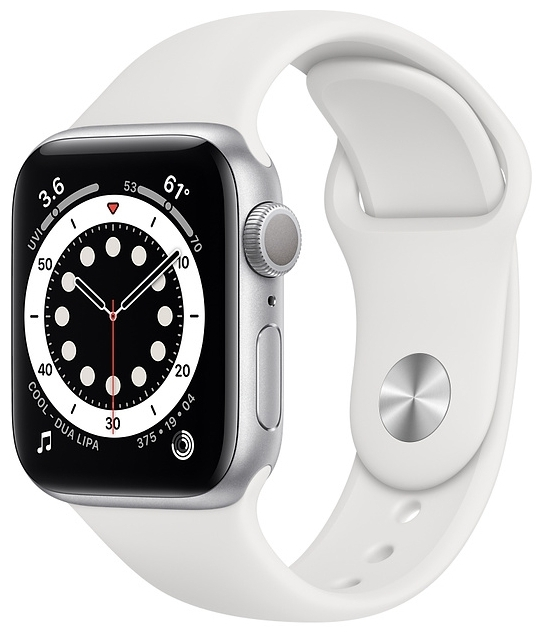 "Apple Watch Series 6 GPS 40мм Aluminum Case with Sport Band - экран: 1.57"" (324x394) OLED"