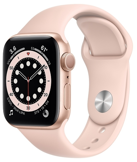 Apple Watch Series 6 GPS 40мм Aluminum Case with Sport Band - водонепроницаемость: WR50 (5атм)