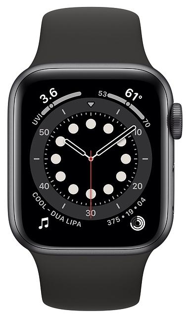 Apple Watch Series 6 GPS 40мм Aluminum Case with Sport Band - мониторинг: калорий, физической активности, сна, уровня кислорода