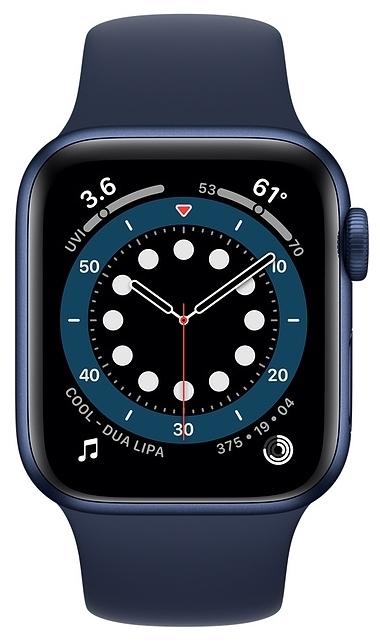 Apple Watch Series 6 GPS 40мм Aluminum Case with Sport Band - вес: 30.5г