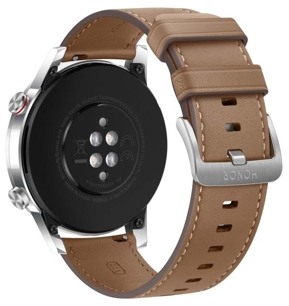 HONOR MagicWatch 2 46мм (leather strap) - водонепроницаемость: WR50 (5атм)