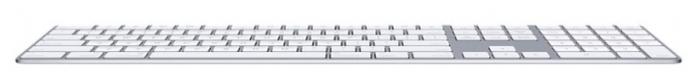 Apple Magic Keyboard with Numeric Keypad (MQ052RS/A) Silver Bluetooth - размеры: 419x11x115мм, вес: 390г