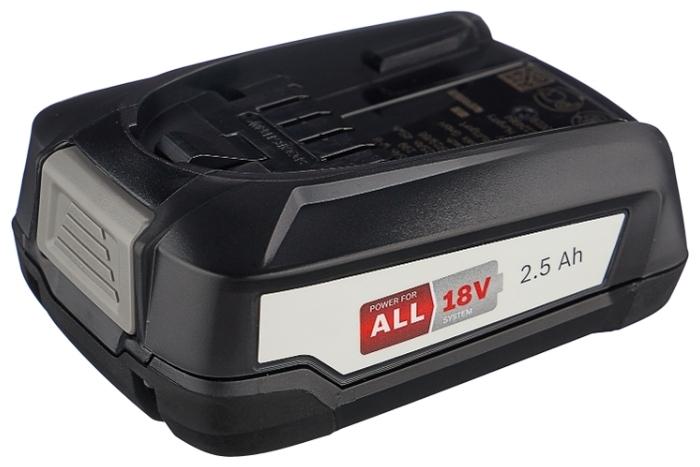 BOSCH 1600A005B0 Li-Ion 18 В 2.5 А·ч - конструкция аккумулятора: слайдер
