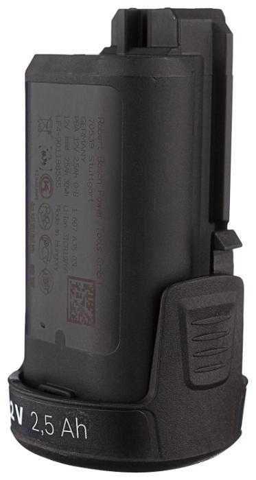 BOSCH 1600A00H3D Li-Ion 12 В 2.5 А·ч - конструкция аккумулятора: обойма