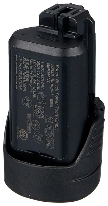 BOSCH 1600A00X79 Li-Ion 12 В 3 А·ч - конструкция аккумулятора: обойма
