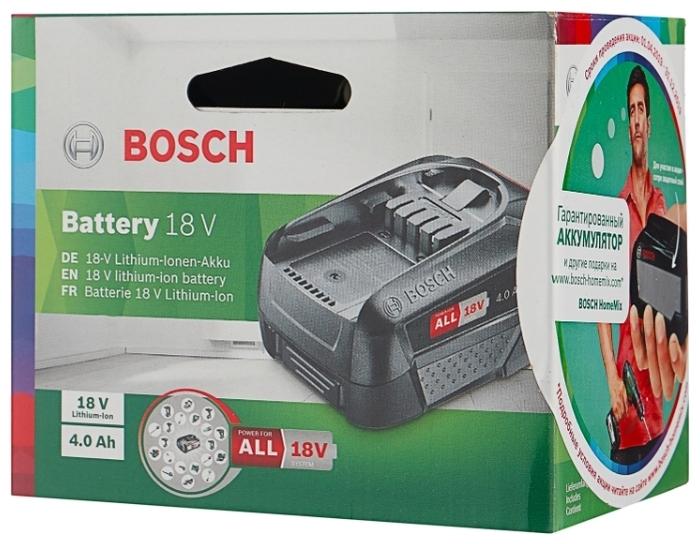 BOSCH 1600A011T8 Li-Ion 18 В 4 А·ч - тип аккумулятора: Li-Ion