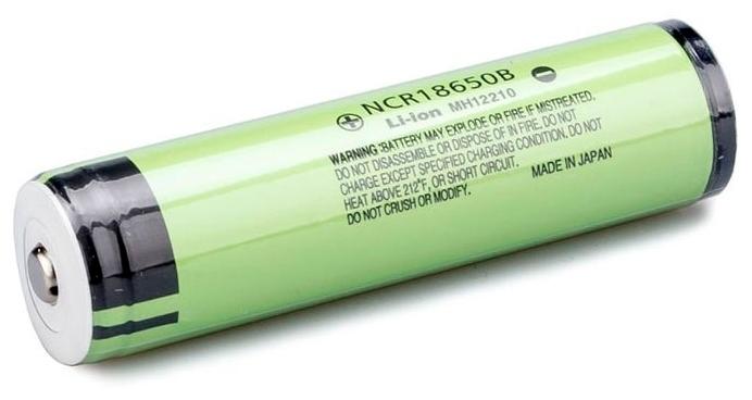 Li-Ion 3400 мА·ч Panasonic NCR18650B с защитой - типоразмер: 18650