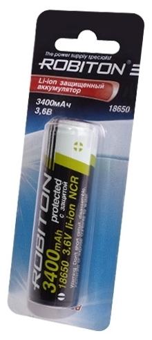 Li-Ion 3400 мА·ч ROBITON 18650-3400 защищенный - тип: аккумулятор