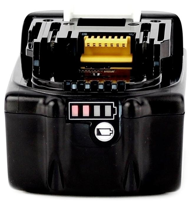 Makita 197265-4 Li-Ion 18 В 4 А·ч - конструкция аккумулятора: слайдер