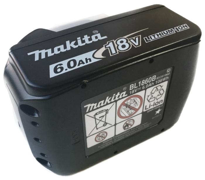 Makita 197422-4 Li-Ion 18 В 6 А·ч - конструкция аккумулятора: слайдер