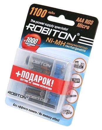 Ni-Mh 1100 мА·ч ROBITON AAA HR03 Micro 1100 - типоразмер: AAA