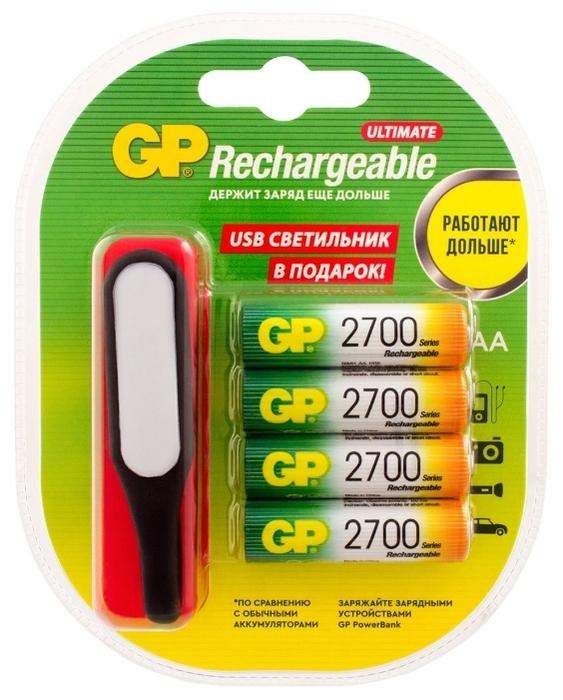 Ni-Mh 2700 мА·ч GP Rechargeable 2700 Series AA + USB светильник - тип: аккумулятор
