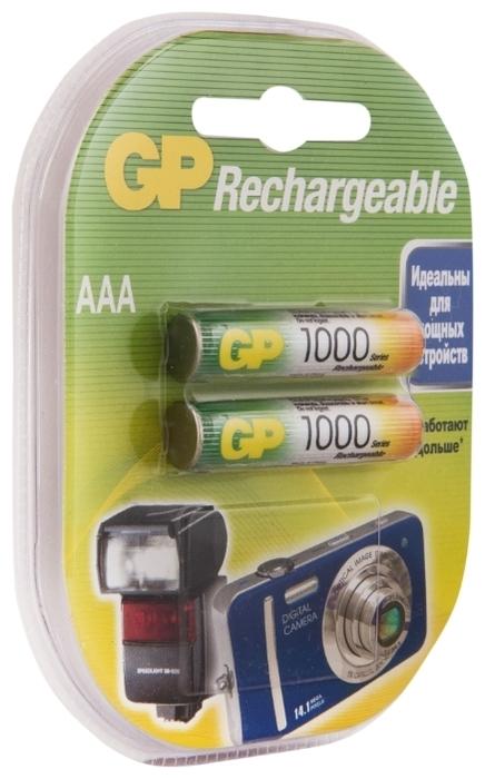 Ni-Mh 950 мА·ч GP Rechargeable 1000 Series AAA - емкость: 950мА·ч