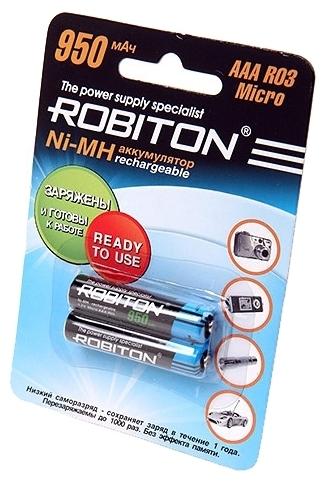 Ni-Mh 950 мА·ч ROBITON AAA R03 Micro 950 - типоразмер: AAA