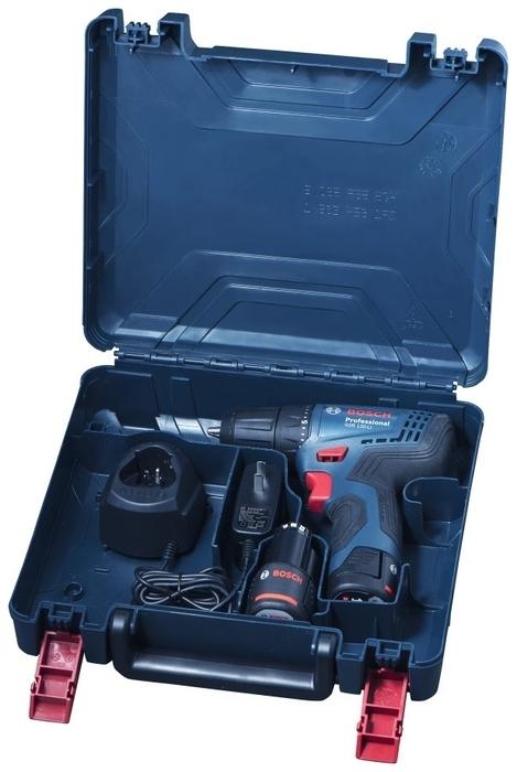 BOSCH GSR 120-LI, 12 В, 2.0 А·ч х2, кейс - аккумуляторная система: BOSCH PRO-MIX 12V