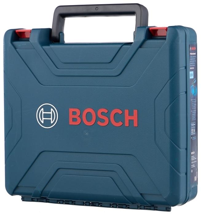 BOSCH GSR 120-LI, 12 В, 2.0 А·ч х2, кейс - упаковка: кейс