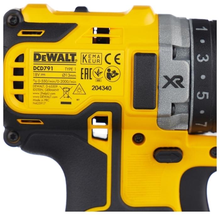 DeWALT DCD791D2 - количество аккумуляторов: 2шт.