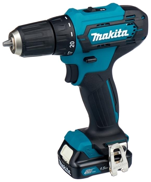 Makita DF333DWYE, 12 В, 1.5 А·ч х2, кейс - напряжение аккумулятора: 12В