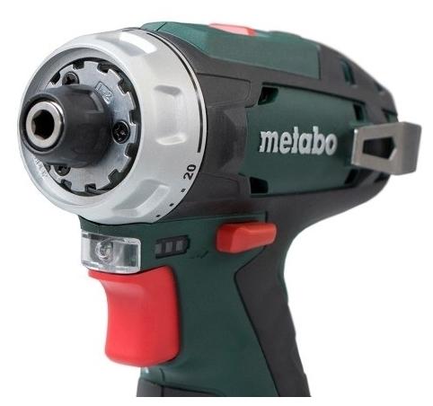 Metabo PowerMaxx BS 2020 Basic, 12 В, 2.0 А·ч х2, коробка - вес: 0.8кг