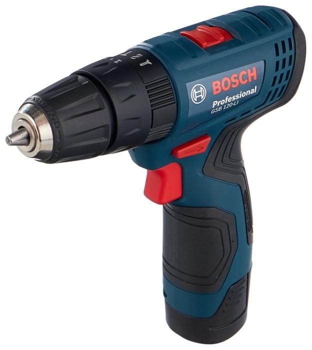 BOSCH GSB 120-LI Li-Ion 2.0 А-ч 12 В х2 кейс - напряжение аккумулятора: 12В