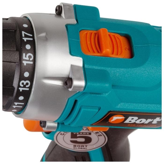 Bort BAB-12X2LI-FDK - макс. диаметр сверления (металл): 10мм