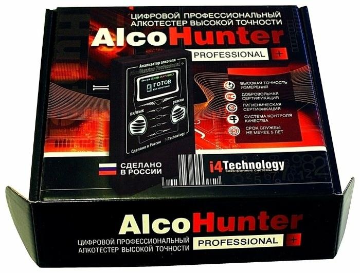 AlcoHunter Professional + - звуковая, визуальная индикация