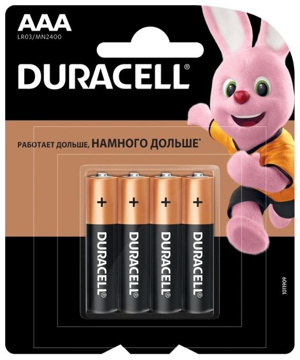 Duracell Basic AAA - технология: щелочная