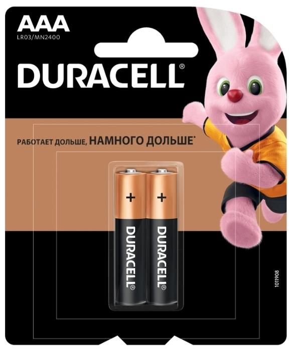 Duracell Basic AAA - рабочее напряжение: 1.5В