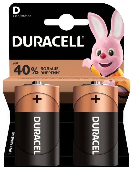 Duracell Basic D - типоразмер: D
